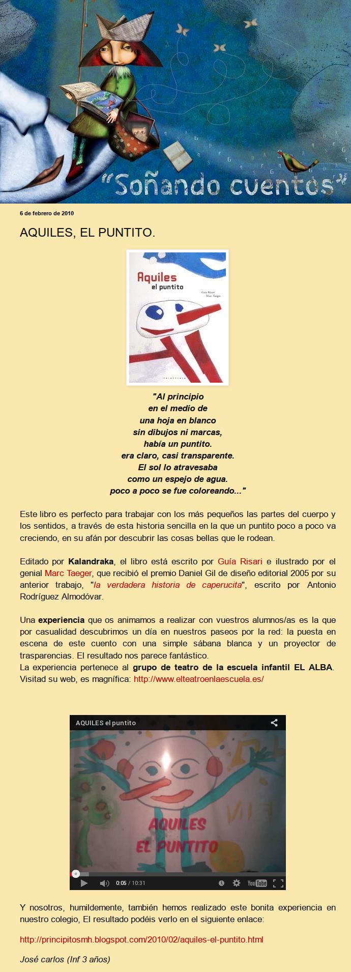 Guia Risari: Aquiles el puntito (Kalandraka, 2006)